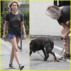 Paris Jackson Heads to the Vet With Her Dog Koa