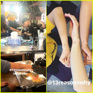 Selena Gomez & '13 Reasons Why' Cast Members Get Matching Tattoos!