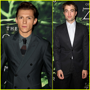 Tom Holland & Robert Pattinson Attend 'The Lost City of Z' L.A. Premiere