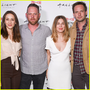 Troian Bellisario & Patrick J. Adams Couple Up For Movie Night!