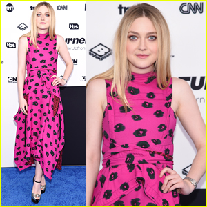 Dakota Fanning Looks Pretty in Pink at the Turner Upfronts