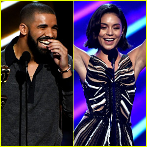 Vanessa Hudgens Looks Incredible, Drake Says at BBMAs! (Video)