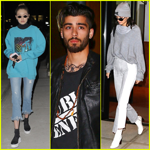 Gigi Hadid Grabs Dinner with Boyfriend Zayn Malik & Her Friends!