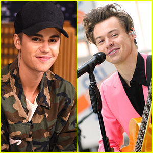 Justin Bieber Congratulates Harry Styles on His New Album & Fans Demand a Collab