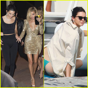 Kendall Jenner Parties With Rumored Beau A$AP Rocky in Cannes