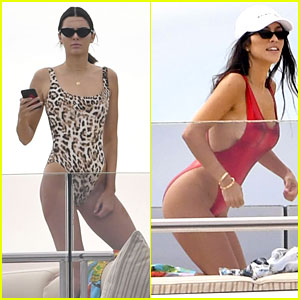 Kendall Jenner Rocks a Leopard Print One-Piece in Cannes!