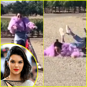 Ouch! Kendall Jenner Fell Off Her Bike & It Was All Caught on Video