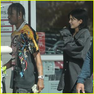 Kylie Jenner & Rumored Boyfriend Travis Scott Run Errands Together