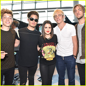 Laura Marano Meets Up With R5 Ahead of BBMAs in Las Vegas