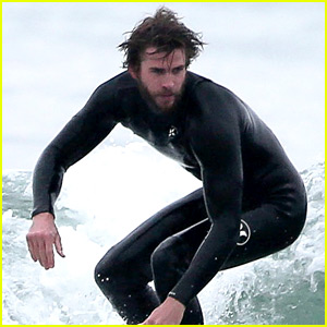 Liam Hemsworth Gets in a Friday Morning Surf Session