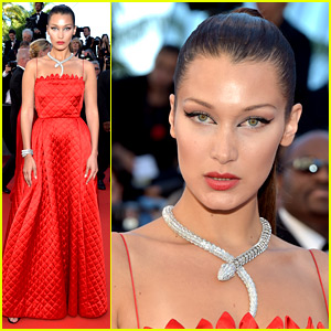 Bella Hadid Wears the Coolest Serpent Necklace at 'Okja' Premiere in Cannes