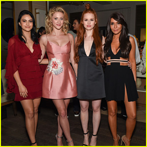 Madelaine Petsch Parties With 'Riverdale' Co-Stars at CW Upfronts Party