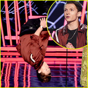 Tom Holland Flips Over New 'Spider-Man: Homecoming' Clip at MTV Movie & TV Awards 2017