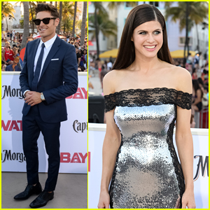 Zac Efron & Alexandra Daddario Attend the 'Baywatch' Premiere