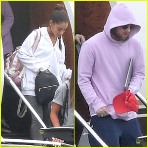 Ariana Grande & Mac Miller Touch Down in London Ahead of Her Benefit Concert