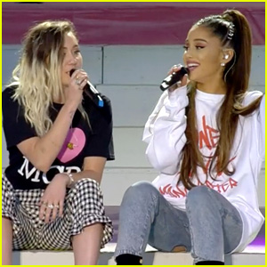 Ariana Grande Sings 'Don't Dream It's Over' with Miley Cyrus at 'One Love Manchester' (Video)