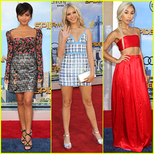 Isabela Moner & Jordyn Jones Step Out For 'Spider-Man: Homecoming' Premiere with Eva Gutowski