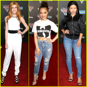 Katherine McNamara Rocks White Jumpsuit at 'Cars 3' Premiere & We Want It!