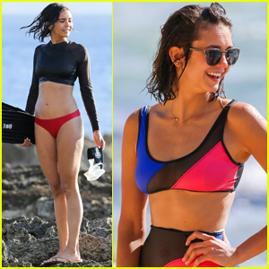 Nina Dobrev Shows Off Super Cute Bikinis While Filming Documentary