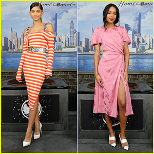 Zendaya and Laura Harrier Stun at 'Spider-Man: Homecoming's NYC Photocall