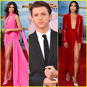Zendaya, Tom Holland, & Laura Harrier Attend the 'Spider-Man: Homecoming' Premiere