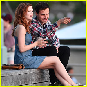 Zoey Deutch & Jake Robinson Chat it Up While Filming New Rom-Com 'Set It Up'