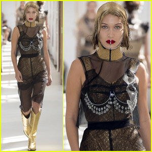 Bella Hadid Gets Edgy For 'Maison Margiela's Paris Fashion Week Show