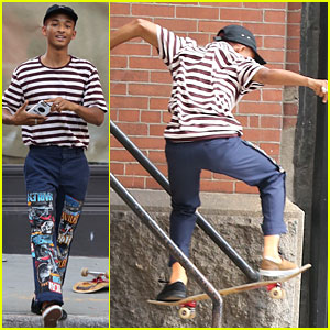 Jaden Smith Puts His Skateboard Style on Display!