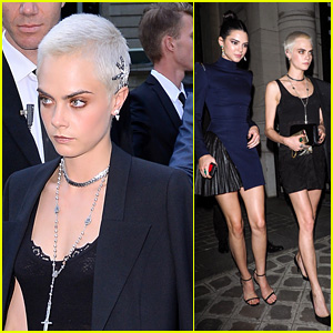 Cara Delevingne Wears Dazzling Head Jewels at Vogue Party 2017