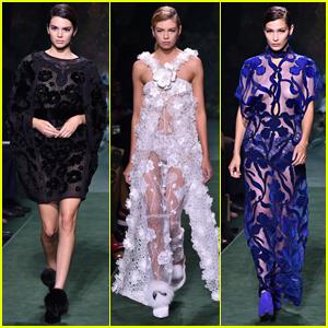 Kendall Jenner, Stella Maxwell, & Bella Hadid Slay the Fendi Fashion Show