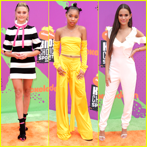 Lizzy Greene & Madison Pettis Arrive in Style For Kids' Choice Sports Awards 2017