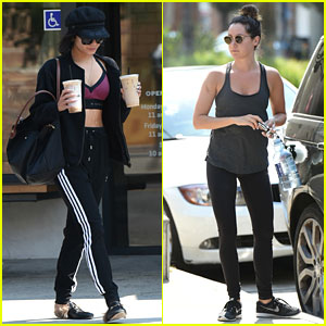 Vanessa Hudgens & Ashley Tisdale Get In a Workout to Start Their Week!