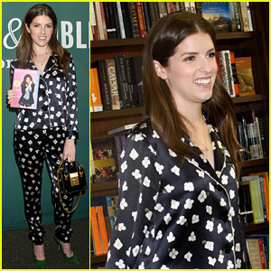 Anna Kendrick Wore Chic Pajamas to Promote Her Book!