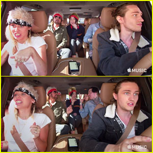 'Carpool Karaoke' Gets Miley Cyrus Family Takeover - Watch the Preview!