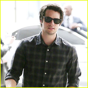 Dylan O'Brien Is a Plaid Stud in London