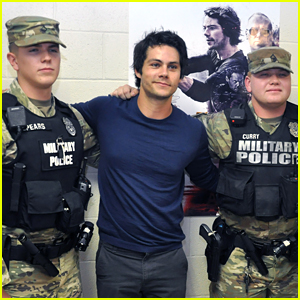 Dylan O'Brien Shares His New Movie 'American Assassin' with Soldiers!