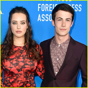 Katherine Langford & Dylan Minnette Attend HFPA Banquet in Beverly Hills
