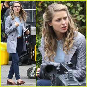Melissa Benoist Spends the Day Filming an Upcoming Episode of 'Supergirl'
