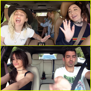 Miley & Noah Cyrus Belt It Out in 'Carpool Karaoke' Teaser - Watch Now!