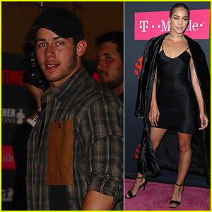 Nick Jonas & Jasmine Sanders Arrive in Style for the Big Fight in Vegas!