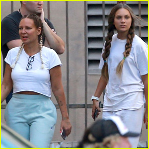 Maddie Ziegler Hangs Out with Sia on New Movie Set!