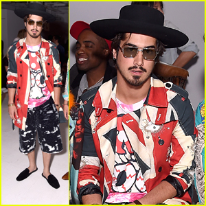 Avan Jogia Wears Mermaid Sequined Shorts to Libertine Fashion Show During NFYW