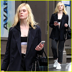 Elle Fanning Flaunts Her Midriff in a Crop Top While Strolling Through NYC!