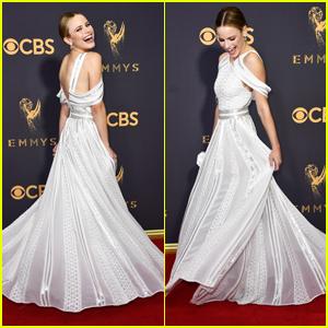 Halston Sage Had Her Cinderella Moment at Emmy Awards 2017
