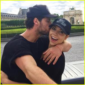 Jenna Johnson & Boyfriend Val Chmerkovskiy Share Throwback Pics of Paris Days Apart