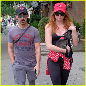 Joe Jonas & Sophie Turner Take Their Fur Baby for a Stroll!