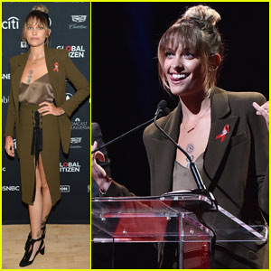 Paris Jackson Represents Elizabeth Taylor AIDS Foundation at Global Citizen Live!