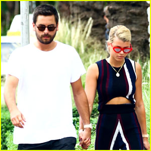 Sofia Richie & Scott Disick Hold Hands For Sunday Funday