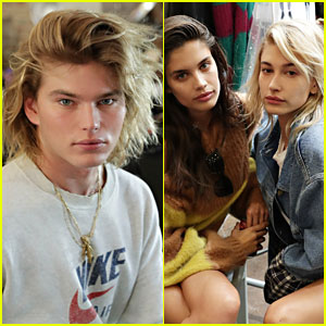 Jordan Barrett, Sara Sampaio & Hailey Baldwin Look Fierce at Zadig & Voltaire NYFW Show