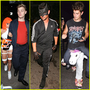 Ariel Winter, Taylor Lautner & Gregg Sulkin Dress Up For Matthew Morrison's Annual Halloween Bash